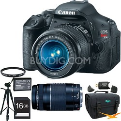 Canon EOS Digital Rebel T3i 18MP SLR Camera 18-55mm IS + EF 75-300mm F4-5.6 III Lens with Full Photo Experience Kit
