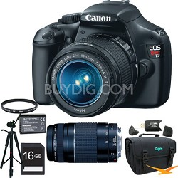 Canon EOS Rebel T3 12.2MP SLR Digital Camera with 18-55mm & 75-300mm Full Photo Experience Kit