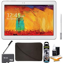 Samsung Galaxy Note 10.1 Tablet - 2014 Edition (32GB, WiFi, White) 16 GB Memory Bundle