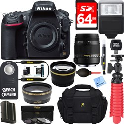 Nikon D810 36.3MP 1080p HD DSLR Camera Body + Sigma 18-25...