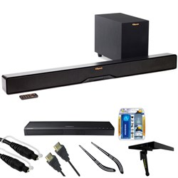 "Klipsch Reference 2-Way Soundbar with Wireless 6.5"""" Subwoofer R4B w/ HD Blu-ray Bundle"" E3KLPR4B"