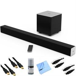 Vizio SB3821-C6 - 2.1ch Bluetooth Sound Bar System w/ Wireless Sub Plus Hook-Up Bundle E1VOSB3821C6