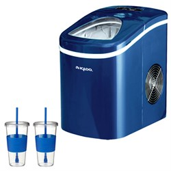 Igloo Compact Ice Maker (Blue) With 2x Eco First Togo Cup Mug E1IGLICE108BLUE