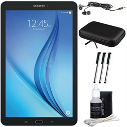 "Samsung Galaxy Tab E 9.6"" 16GB Tablet PC (Wi-Fi) - Black Accessory Bundle"
