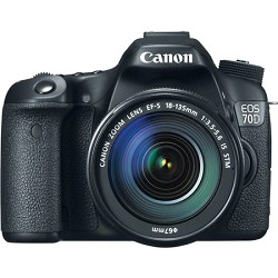 Canon EOS 70D 20.2 MP CMOS Digital SLR Camera and EF-S 18-135mm F3.5-5.6 IS STM Kit
