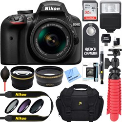 Nikon D3400 24.2 MP DSLR Camera w/ AF-P DX 18-55mm VR Len...