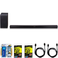 LG SH7B 360W 4.1ch Music Flow Wi-Fi Sound Bar with Wireless Subwoofer Bundle E1LGSH7B