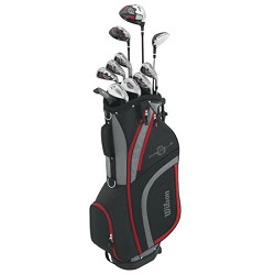 Wilson Sports Men's Profile XLS Complete Package Golf Set, Right Hand, Red
