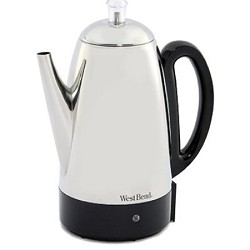 West Bend 54159 Classic Stainless-Steel 12-Cup Percolator WB54159