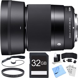 Sigma 30mm F1.4 DC DN Lens for Micro 4/3 Mount Essential Acc