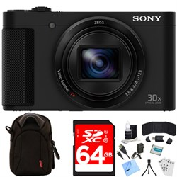 Sony Cyber-shot HX80 Compact Digital Camera (Black) 64GB ...