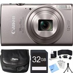 Canon PowerShot ELPH 360 HS Silver Digital Camera w/ 12x ...