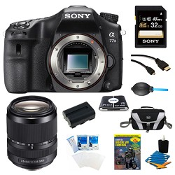 Sony a77II 24.3MP HD 1080p DSLR Camera 18-135mm Lens Bundle