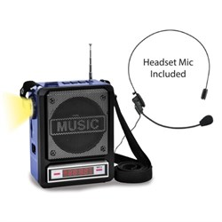 Technical Pro Rechargeable Bluetooth Speaker with Wired Headset Mic & LED Torch Light WASP100