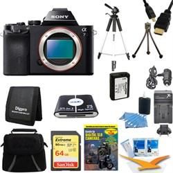Sony Alpha 7 a7 Digital Camera 64GB SDXC Card Battery and...