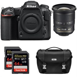Nikon D500 CMOS DX DSLR Camera w/ 4K Video (Body) + 10-24...