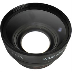 General Brand Pro .43x Wide Angle Lens w/ Macro 55mm Threading (Black) GENWA55