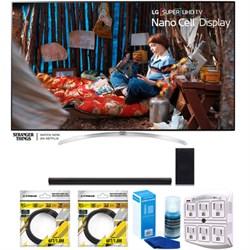 "LG SUPER UHD 65"""" 4K HDR Smart LED TV 2017 Model with Sound Bar Bundle"" E1LG65SJ8000"
