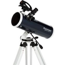 Celestron Omni XLT AZ 114mm Newtonian Telescope, Blue - 2...