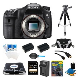 Sony a77II HD DSLR Camera, 64GB Card, and 2 Battery Bundle