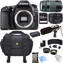 Canon EOS 80D 24.2 MP CMOS Digital SLR Camera Bundle w/ 7...