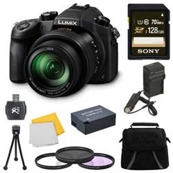 Panasonic LUMIX FZ1000 4K QFHD/HD 16X Long Zoom Digital Camera 128GB Bundle (Black) E3PNDMCFZ1000
