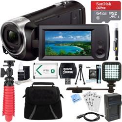 Sony HDR-CX405/B Full HD 60p Camcorder + 64GB MicroSD Acc...