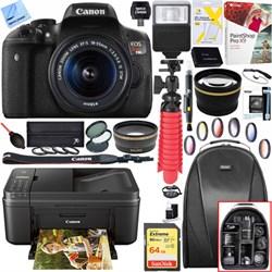 Canon EOS Rebel T6i DSLR Camera w/ EF-S 18-55mm Lens + Ca...