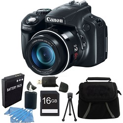 Canon Powershot SX50 HS 50x Zoom High-Performance Camera 16GB Bundle