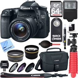 Canon EOS 70D CMOS DSLR Camera w/EF-S 18-55mm F3.5-5.6 IS ST