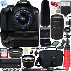 Canon T6 EOS Rebel DSLR Camera + 18-55mm & 75-300mm Dual ...