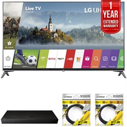 "LG 55"""" Super UHD 4K HDR Smart LED TV 2017 Model with Warranty + Blu Ray Bundle"" E10LG55UJ7700"