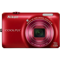Nikon COOLPIX S6300 16MP Digital Camera with 10x Optical Zoom (Red) Refurbished NKS6300RRB