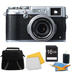 Fujifilm X100S 16MP Full HD 1080p Video Digital Camera 16GB Silver Kit