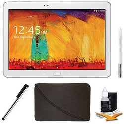 Samsung Galaxy Note 10.1 Tablet - 2014 Edition (16GB, WiFi, White) Plus Accessory Bundle