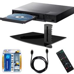 Sony BDP-S1700 Streaming Blu-ray Disc Player w/ Glass Media Shelf + Accessory Bundle E3SNBDPS1700