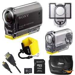 Sony HDR-AS30V High Definition POV Action Video Camera Bundle