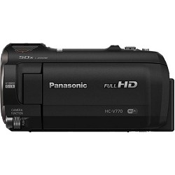 Panasonic HC-V770K HD Camcorder with Wireless Smartphone ...