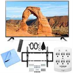 LG 55LF6000 - 55-inch Full HD 1080p 120Hz LED HDTV Tilt Mount & Hook-Up Bundle