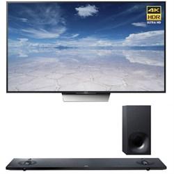 Sony XBR-85X850D 85-Inch 4K UHD TV with Sony HTNT5 Sound Bar