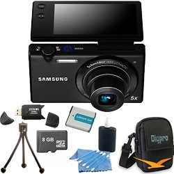 Samsung MV800 16.1 MP 3.0 MultiView Black Compact Digital Camera 8GB Kit