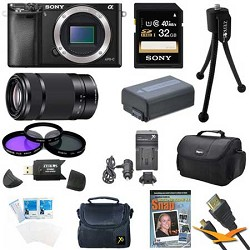 Sony Alpha a6000 24.3MP Interchangeable Lens Camera Body and Lens Kit E3SNILCE6000B