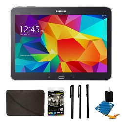Samsung Galaxy Tab 4 Black 16GB 10.1 Tablet and Case Bundle