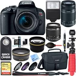 Canon EOS Rebel T7i DSLR Camera + EF-S 18-55mm & 55-250mm...