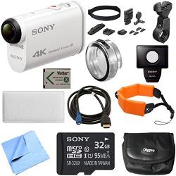 Sony FDR-X1000V 4K Action Cam Handle Bar Mount Bundle