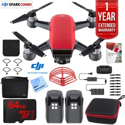 DJI SPARK Fly More Drone Combo Lava Red - CP.PT.000901 Ul...