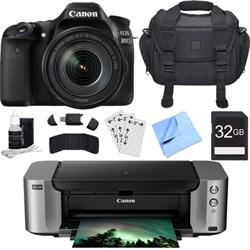 Canon EOS 80D CMOS DSLR Camera w/ EF-S 18-135mm Lens + PI...