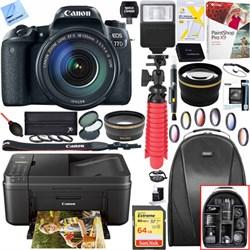 Canon EOS 77D DSLR Camera w/EF-S 18-55mm Lens + Canon PIX...
