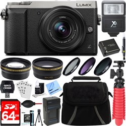 Panasonic LUMIX GX85 4K Silver Mirrorless Camera with 12-...
