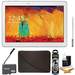 Samsung Galaxy Note 10.1 Tablet 2014 Edition (32GB, WiFi, White) 32 GB Accessory Bundle
